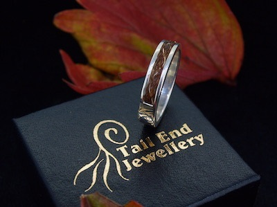 Horse hair ring inlaid