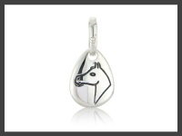 Horse Head Pebble Charm