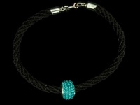 Horseshoe Bracelet with Bedazzle Bead