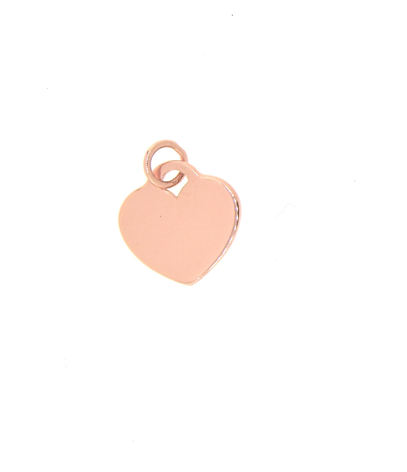 heart flat chain gold pendant necklace thin small glossy