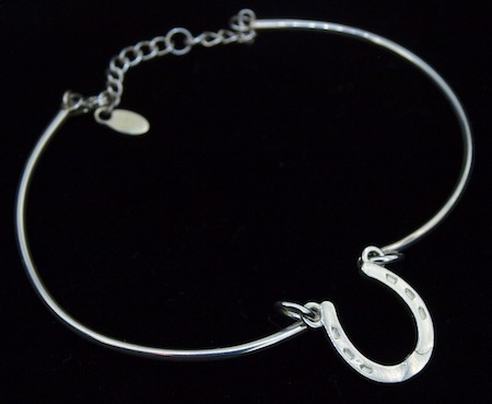 Silver Bracelet with Horseshoe Charm