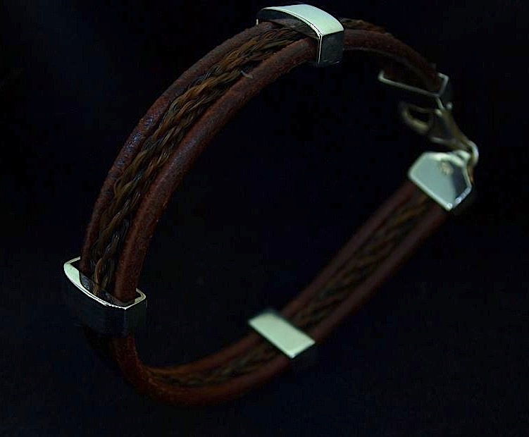 Leather and Braid Bracelet