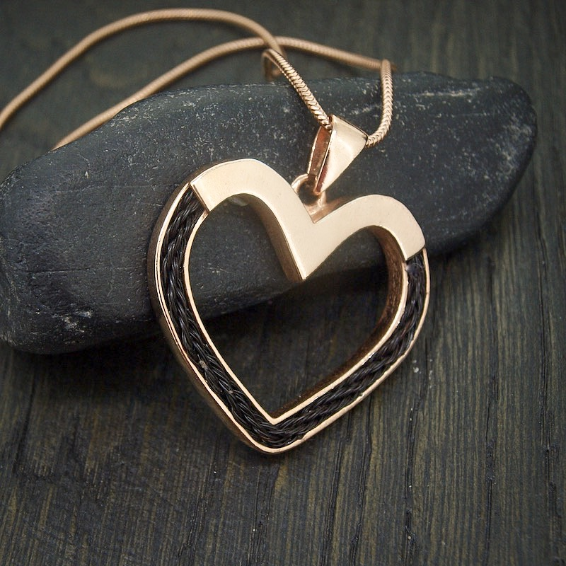 Rose Gold Inlaid Forever Heart Necklace