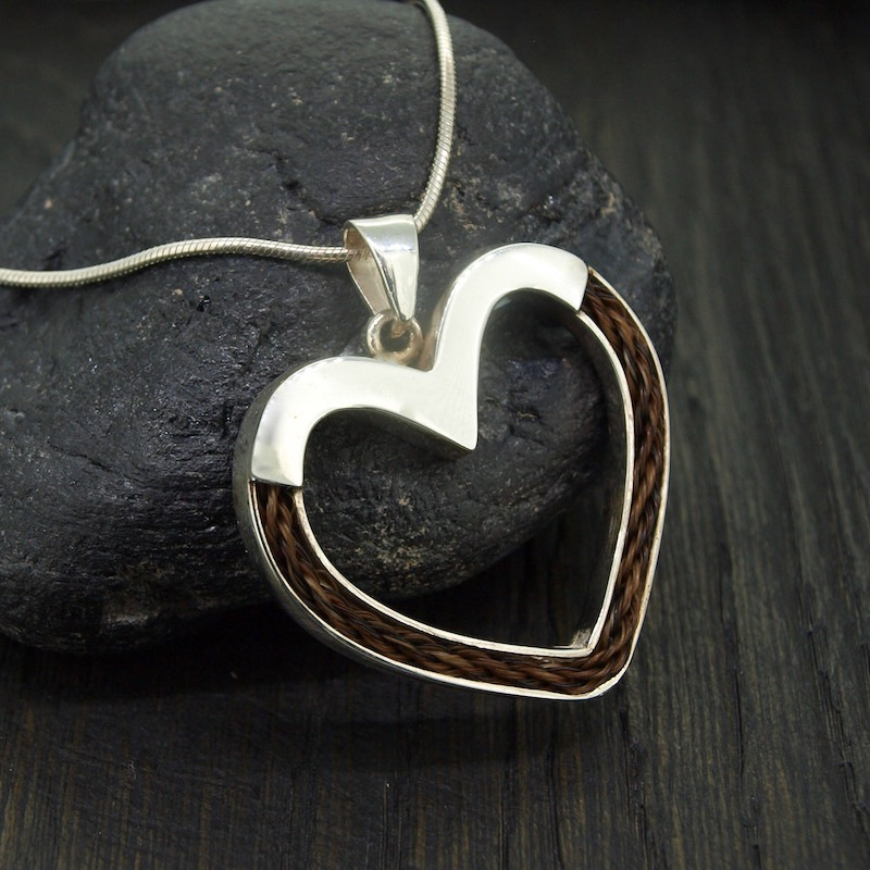 Inlaid Forever Heart Necklace