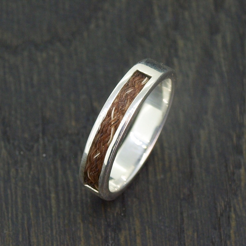 Inlaid Horsehair Ring