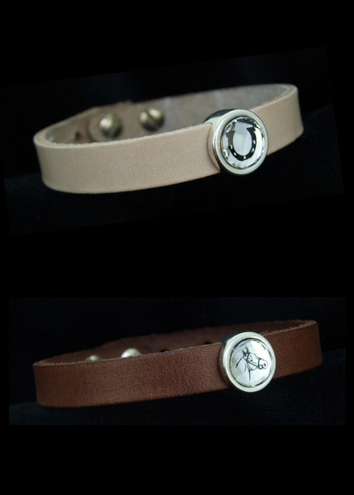 Leather Bracelet with Swarovski Bead