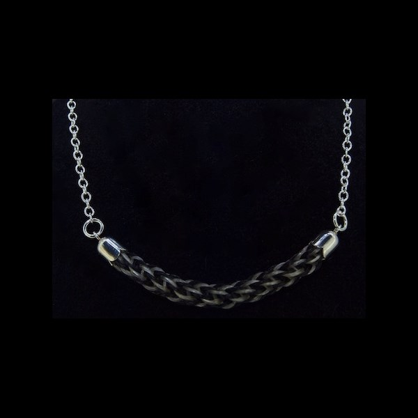 Braided Bar Pendant on Necklace