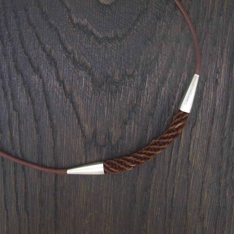 Cone Leather Necklace