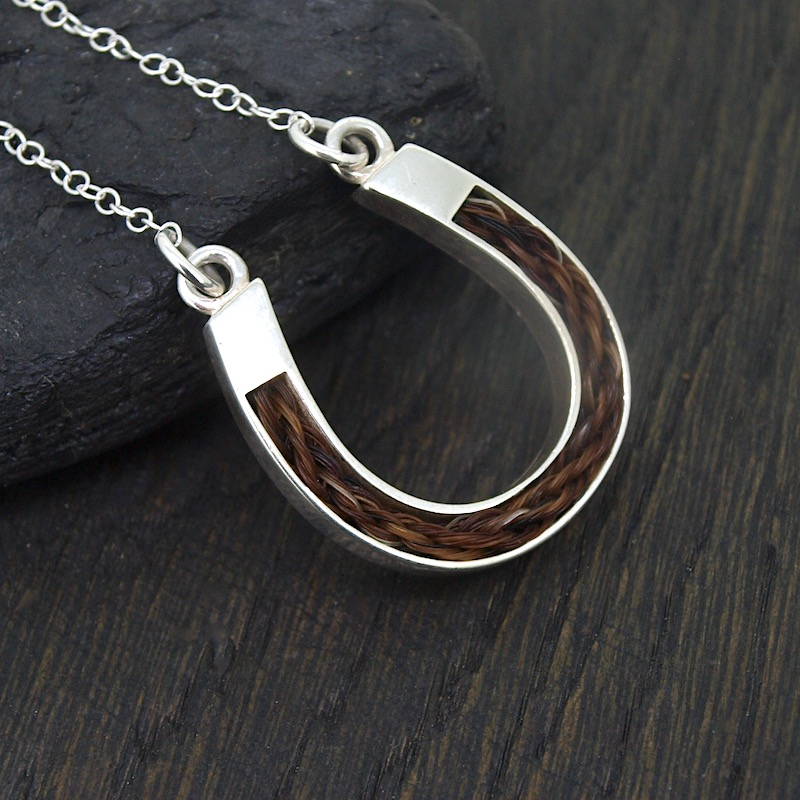 Inlaid Lucky Horseshoe Necklace