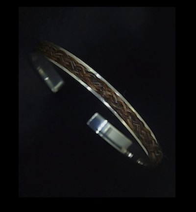 Inlaid Horsehair Bangle