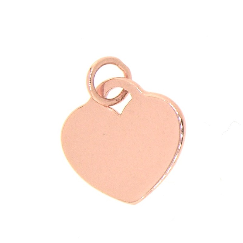 Rose Gold Vermeil Flat Heart Charm