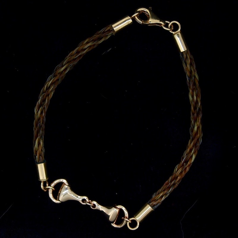 Rose Gold 2 Braid Snaffle Bit Bracelet